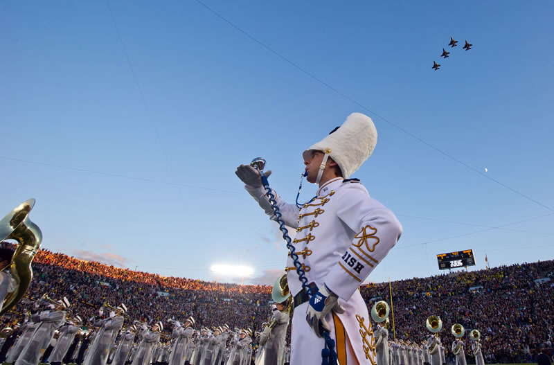 Air Force fly-over at football game